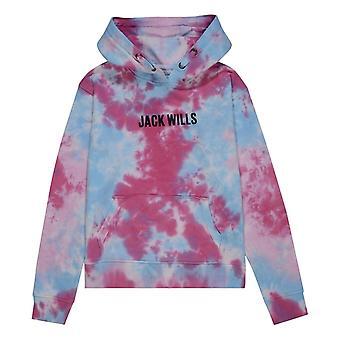 Jack Wills Kids Girls Tie Dye Sky Print Hoodie