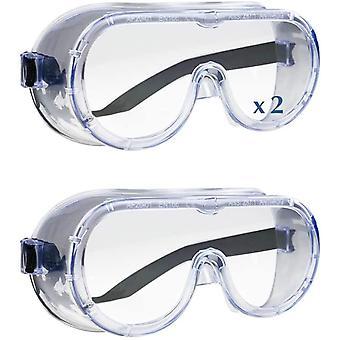 Schutzbrille gemäß EN166   Antibeschlag - Sicherheitsbrille   Kristallklar   Kratzfest   Flexibles