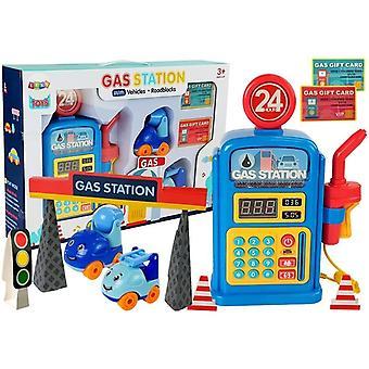 Speegoed benzinestation met auto's, licht en geluid