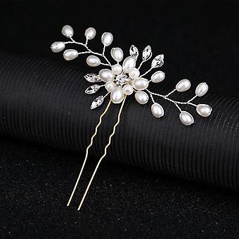 Acessórios de cabelo de casamento Cristal Pearl Hair Belt