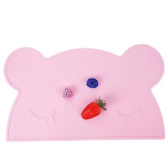46.5*27.5*0.2Cm الوردي على شكل دب سيليكون حصيرة الجدول العازل للحرارة، غير زلة، مقاومة للارتداء وسهلة التنظيف az17895