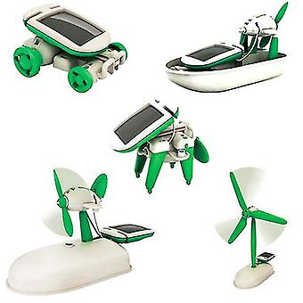 Solar energy six-in-one puzzle hands-on assembly toy az17935
