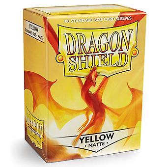 Dragon Shield Yellow Matte Card Sleeves - 100 Sleeves