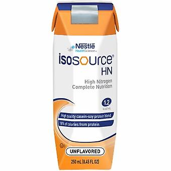 Nestle Healthcare Nutrition Tube Feeding Formula Isosource HN 250 mL Carton Ready to Use Unflavored Adult, 1 Each