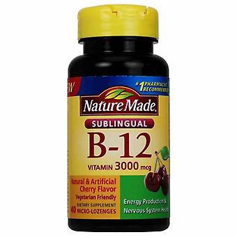 Nature Made Vitamin B12, 3000mcg, Sublingual 40 Lozenges