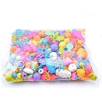 новые 100шт opp бусины защелкиваются вместе для детей ювелирные изделия ожерелье браслет день рождения toy sm47320