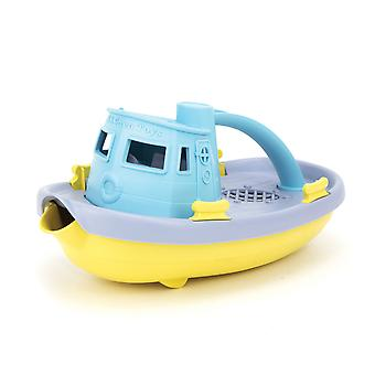 Green Toys Tugboat (Blue Handle) Bath Water Sand Toys Playset Pretend Play