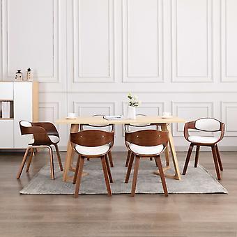 vidaXL chaises à manger 6 pcs. bois d'étrave et faux-monnes