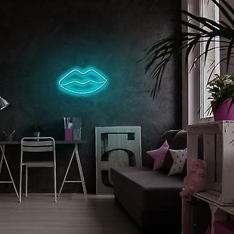 Lippen - Blauwe Blauwe Muurlamp