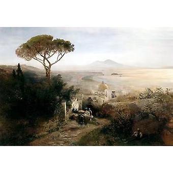Coastal landscape,Oswald Achenbach