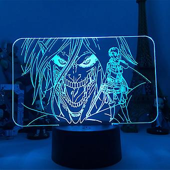 3d Led Night Light Anime Attack On Titan Rivaille(i)
