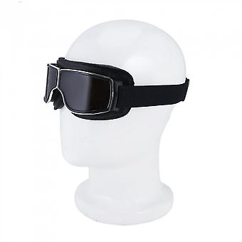 Motorcycle Goggles Motorbike Cruiser Glasses Plastic Frame With Leather