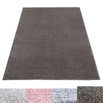 Korte stapel tapijt woonkamer tapijt Zacht geweven monochroom beige grijs roze taupe
