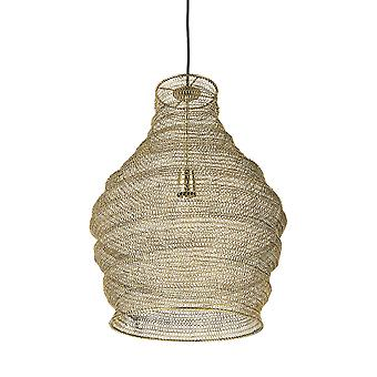 Gold Metal Wire Mesh Hanging Pendant Light