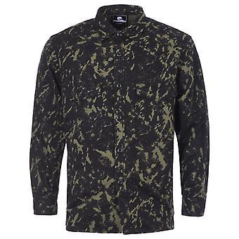 Edwin Big Panama Cotton Long Sleeve Shirt - Camo