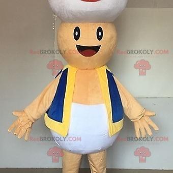 Mascote REDBROKOLY.COM de Super Cogumelo, famoso personagem mario