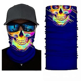 2Pcs neck gaiters seamless balaclava magic scarf neck face cover ghost skull skeleton head