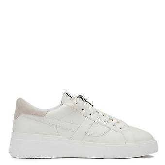 Ash FLAM Eco Zip Trainers In White And Grey