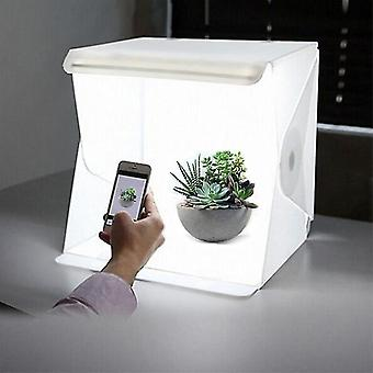 Mini Photography Studio Box With 2 Eva Backgrounds Integrated Led Panel And