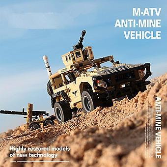 890Pcs sotilaallinen rakennuspalikat armeijan panssaroidut joukot hyökkäys ajoneuvon SWAT Tank World War