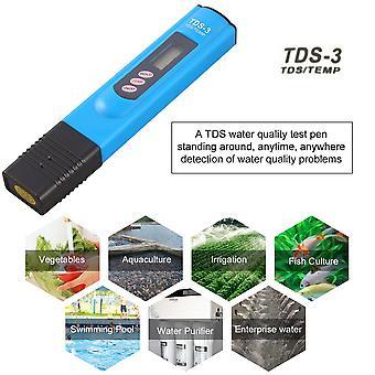 Prenosný Tds Lcd Digital 0-9990ppm Test kvality vody Test tvrdosti pera Analyzátor tvrdosti