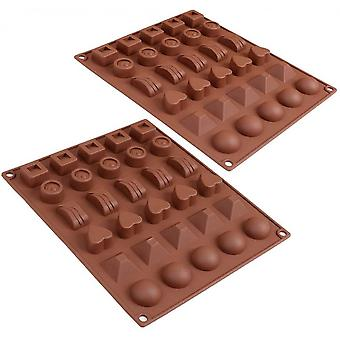 30-cavity Chocolate Mold Stick Food Grade Silicone Candy Jelly Mold  6 Styles