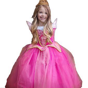Menina Princesa Aurora Adormecida Festa da Bela Cosplay Fantasia Fantasia Vestido Fantasia