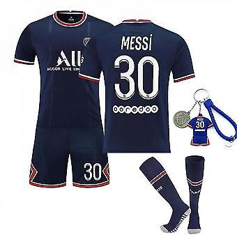 Camiseta Messi Psg home, camiseta del equipo parisino-messi-30-home (talla adulto)