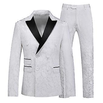 מייל לגברים מודפסים חליפה אופנה חליפה רזה ז'קט שלב מסיבת חליפה חברתית מעיל מכנסיים