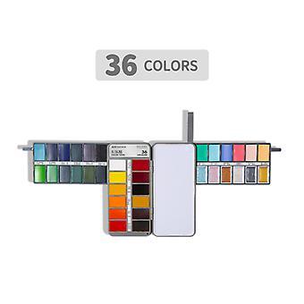 Solid Aquarel Verf Set Schilderij Set 36 kleuren voor beginners