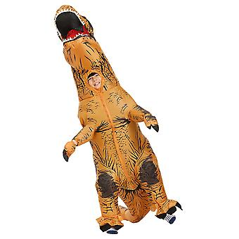 Brown Children Tyrannosaurus Rex Inflatable Clothing Children's Dinosaur Costume