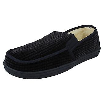 Mens Spot On Warmlined House Slippers 69144