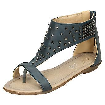 Girls Cutie Toepost Studded Gladiator Sandal