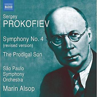 Prokofiev - Prokofiev: Symphony No. 4; the Prodigal Son [CD] USA import