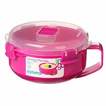 Bouillie de micro-ondes Sistema Klip It To Go, 850ml, rose