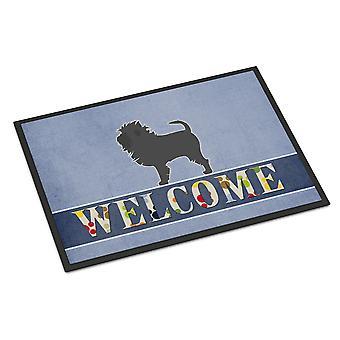 Carolines skatter BB5552MAT Affenpinscher velkommen innendørs eller utendørs Mat 18 x 27