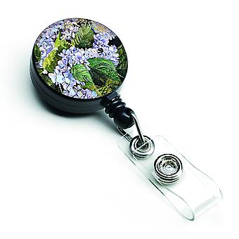 Carolines Treasures  8730BR Hydrangea Retractable Badge Reel