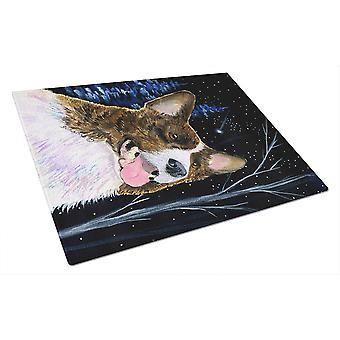 Carolines trésors SS8387LCB nuit étoilée Corgi verre planche Large