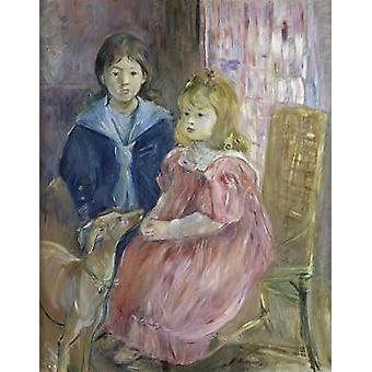 The Gabriel Children Poster Print by Berthe Morisot