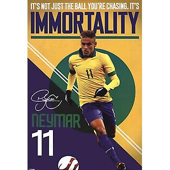 Neymar - Immortality Poster Poster Print