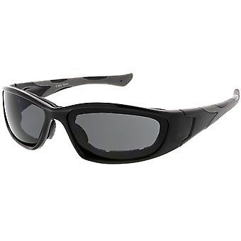 عدسة المستطيل واقية نظارات مبطن متعددة الرياضة TR-90 65 مم