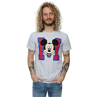 Disney Мужская футболка лицо Микки Маус М