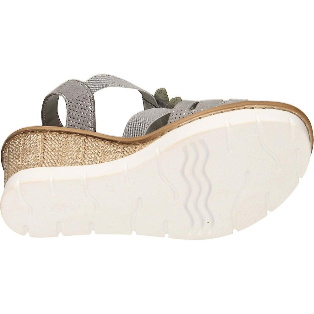 Rieker Wedge Heel Platform Slingback Sandals 65505-42