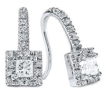 5 / 8ct Diamant Ohrstecker 14K White Gold