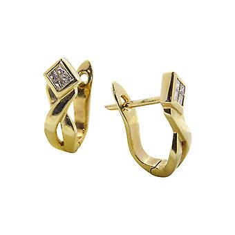 Gelb Gold Ohrclips mit Diamant