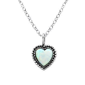 القلب - 925 الجنيه الاسترليني الفضة مرصع بالجواهر قلادات - W27078X