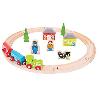 Bigjigs Rail My First Wooden Train Set Start Railway Play Set Track Small