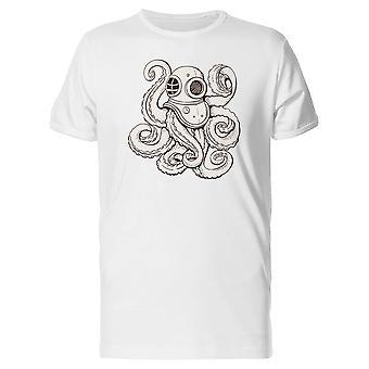 Octopus In Diving Helmet Tee Men's -Image by Shutterstock