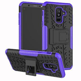 Voor Samsung Galaxy A6 plus A605 2018 hybrid case 2 stuk SWL buiten paarse tas gevaldekking van bescherming