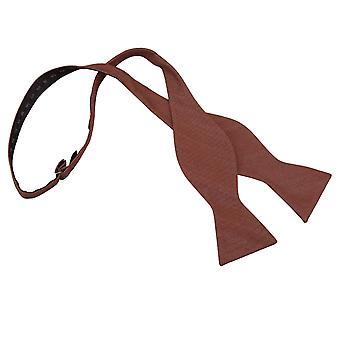 Brown Ottoman Wool Thistle Self Tie Bow Tie